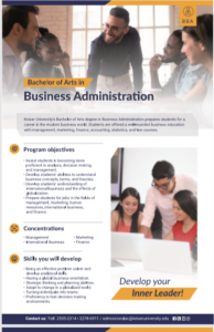 Business administration in Keiser University nicaragua