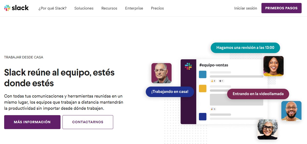slack herramienta gratuita para empresas